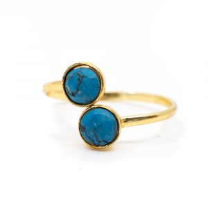 Birthstone Ring Turquoise December - 925 Silver - Adjustable