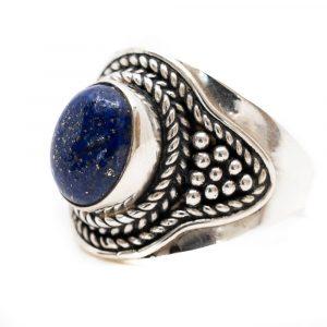 "Gemstone Ring Lapis Lazuli 925 Silver ""Feze"" (Size 17)"