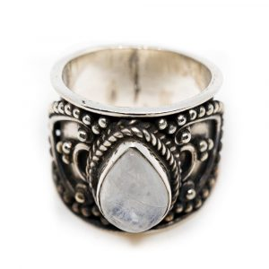 "Gemstone Ring Moonstone 925 Silver ""Verzera"" (Size 17)"