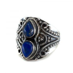 "Gemstone Ring Lapis Lazuli 925 Silver ""Vizrea"" (Size 17)"