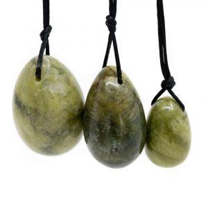 Yoni Egg Set Green Jade - Set of 3
